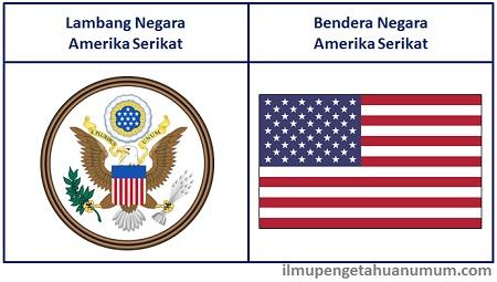Lambang Negara Amerika Serikat dan Bendera Amerika Serikat