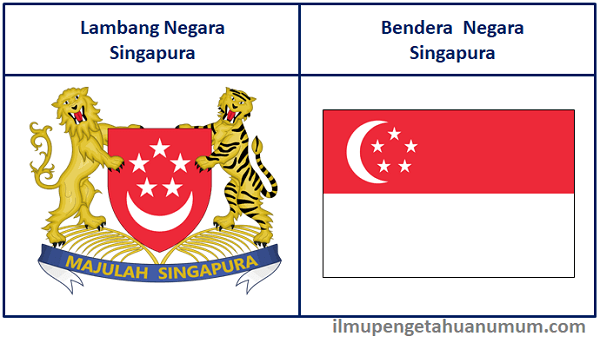 Lambang Negara Singapura dan Bendera Singapura