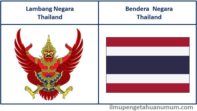 Lambang Negara Thailand dan Bendera Thailand