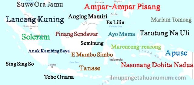 Lagu-lagu Daerah di Indonesia beserta daerah asalnya