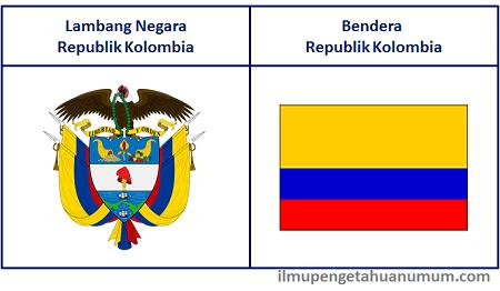 Lambang Negara dan Bendera Negara Kolombia