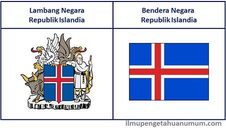 Lambang Negara Islandia dan Bendera Negara Islandia