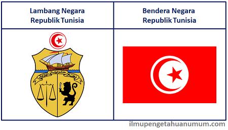 Lambang Negara Tunisia dan Bendera Negara Tunisia