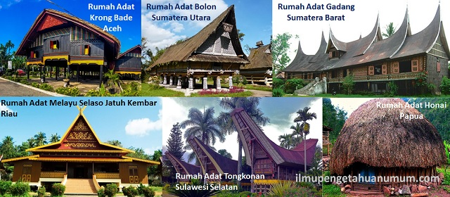 Nama-nama Rumah Adat Daerah beserta daerah asalnya