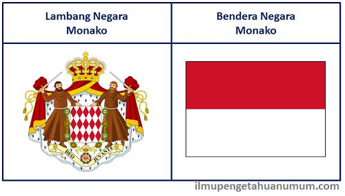 Lambang Negara Monako dan Bendera Negara Monako