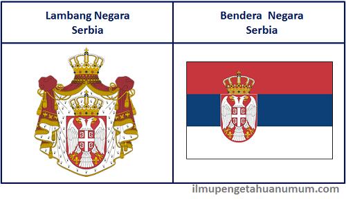 Lambang Negara Serbia dan Bendera Negara Serbia