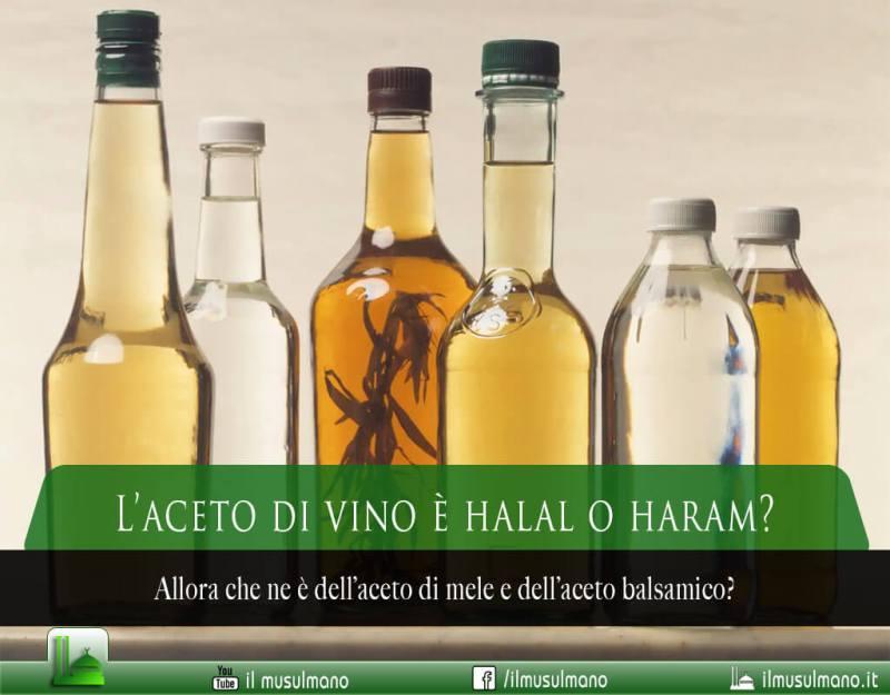 L'aceto di vino è halal o haram?