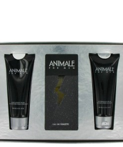 ANIMALE by Animale - Gjafasett - 3.3 oz Eau De Toilette Spray + 3.4 oz After Shave Balm + 3.4 oz Body Wash f. herra