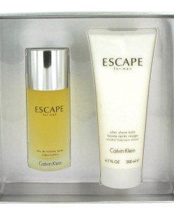 ESCAPE by Calvin Klein - Gjafasett - 3.4 oz Eau De Toilette Spray + 6.7 oz After Shave Balm f. herra