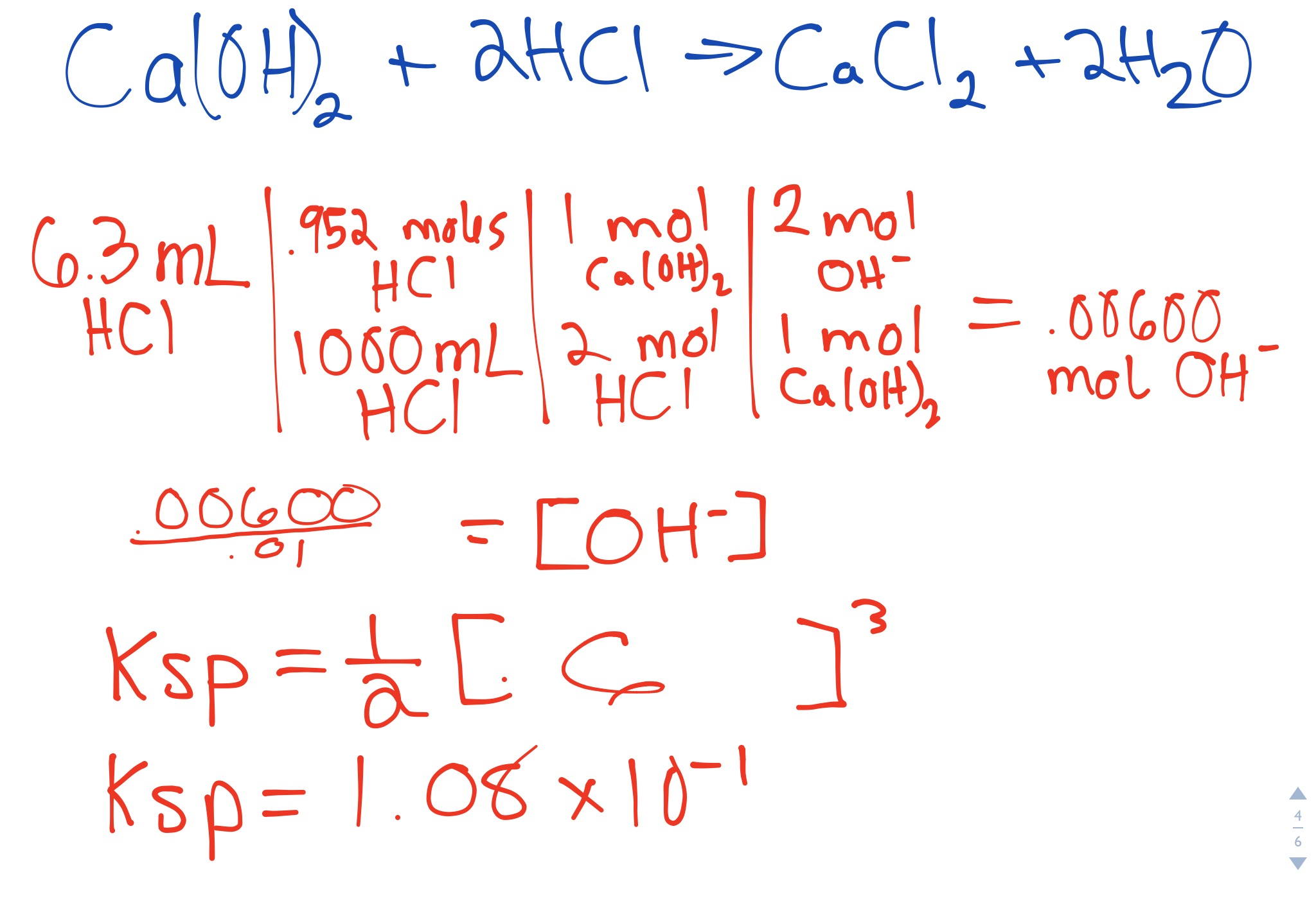 Ksp Of Calcium Hydroxide At Different Temperatures What