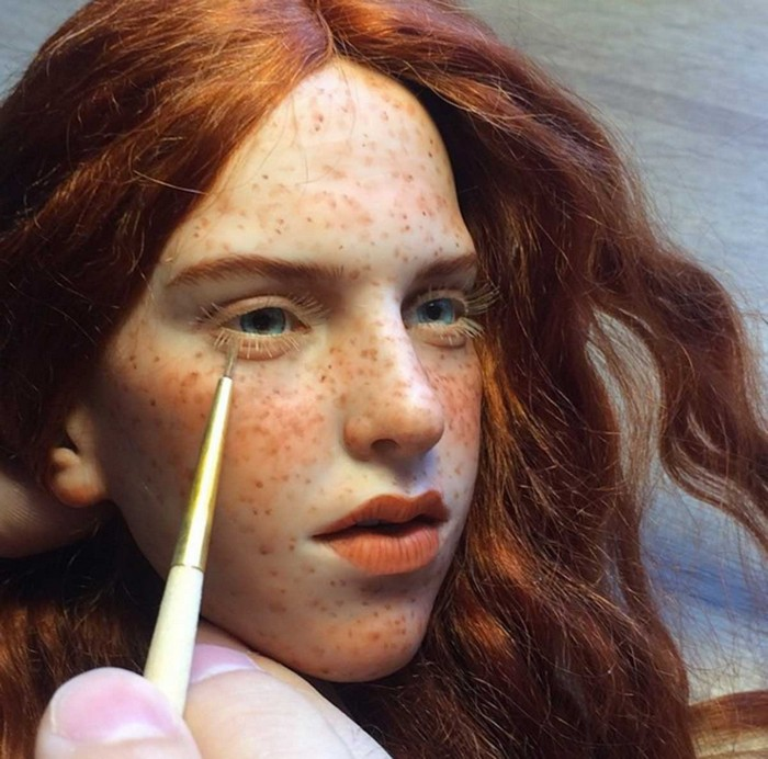 crafted realistic doll faces