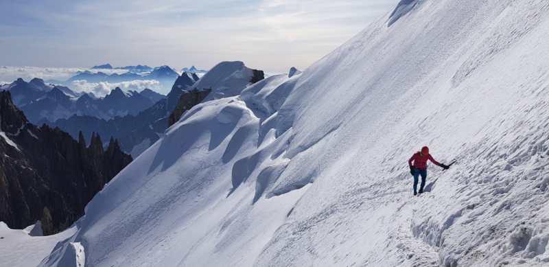 Justyna Kowalczyk śnieg góry trawers