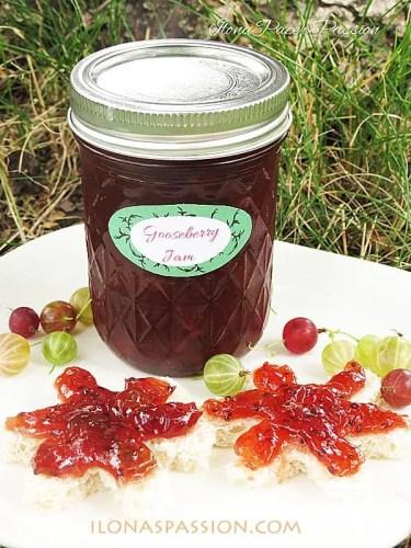 Gooseberry jam by ilonaspassion.com #gooseberry #jam
