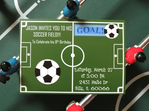 Soccer Birthday Party Invitation by ilonaspassion.com