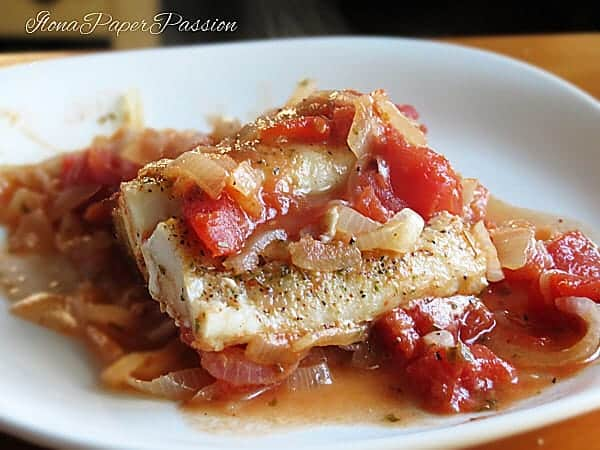 Fish Cod with Tomatoes by ilonaspassion.com