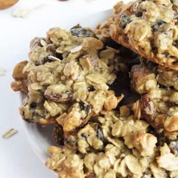 Oat Flour Almond Plum Cookies by ilonaspassion.com