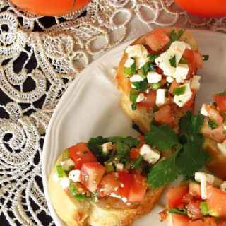 Cilantro Feta Cheese Mini Appetizer Sandwiches