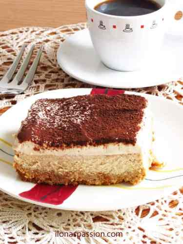 The BEST Tiramisu Cheesecake by ilonaspassion.com