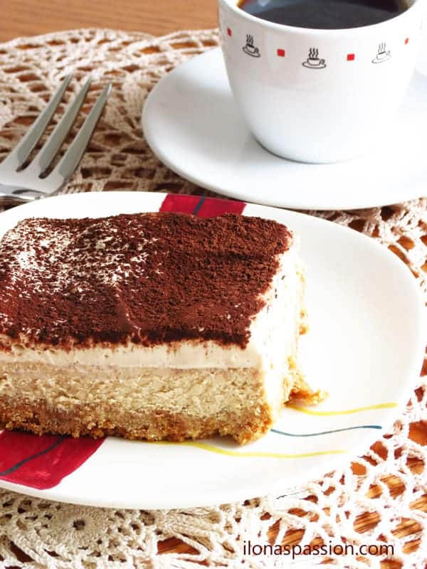 Tiramisu Cheesecake I ilonaspassion.com