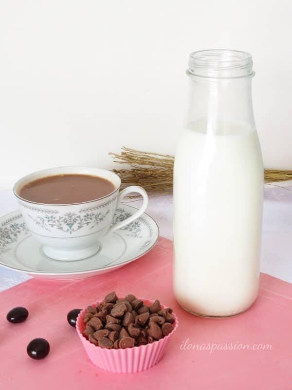 3 Ingredients Crock Pot Hot Chocolate by ilonaspassion.com