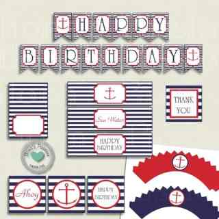 Nautical Birthday Party Printables