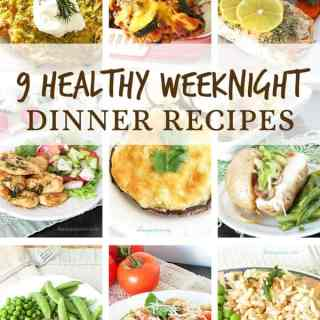 9 Healthy Weeknight Dinner Recipes for the whole family. Meatless, pasta, chicken, turkey, casserole recipes and more! Easy and quick healthy main dish recipes by Ilonaspassion.com @ilonaspassion