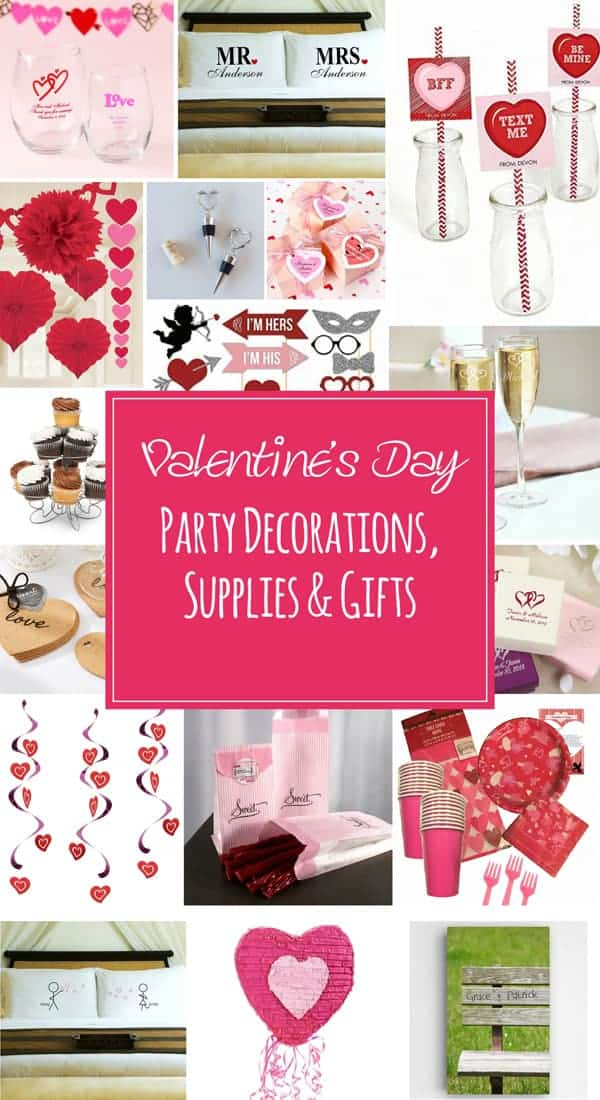 Valentine's Day Party Decorations, Supplies & Gifts - Lovely Valentine's Day party decorations, supplies and gifts for your next party. Valentine's day party favors, napkins, straws and personalized gifts on ilonaspassion.com @ilonaspassion