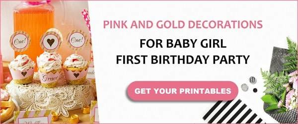 Pink and gold party theme.