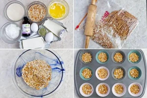 How to make mini pretzel crust for dessert.