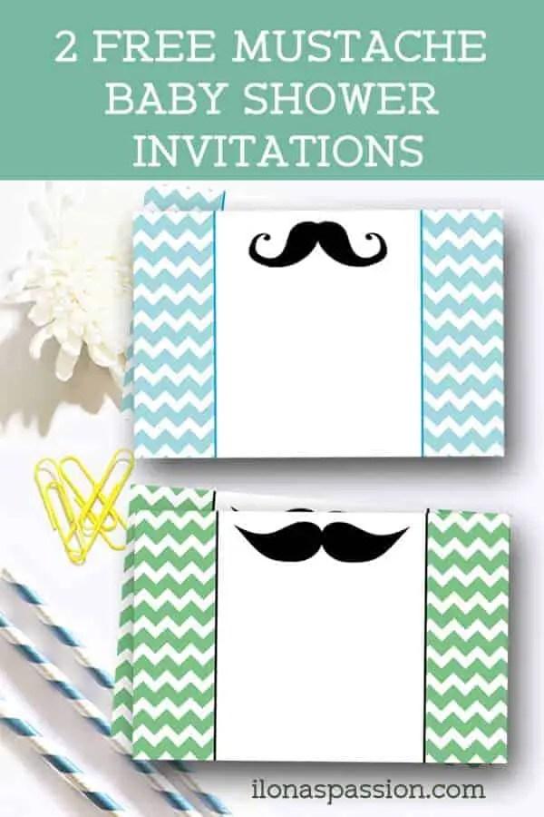 Free Mustache Baby Shower Invitations Ilona S Passion