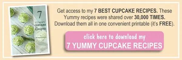 7 Best Cupcake Recipes Ebook by ilonaspassion.com I @ilonaspassion