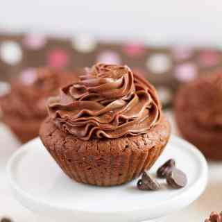Brownie Cupcakes with Chocolate Frosting