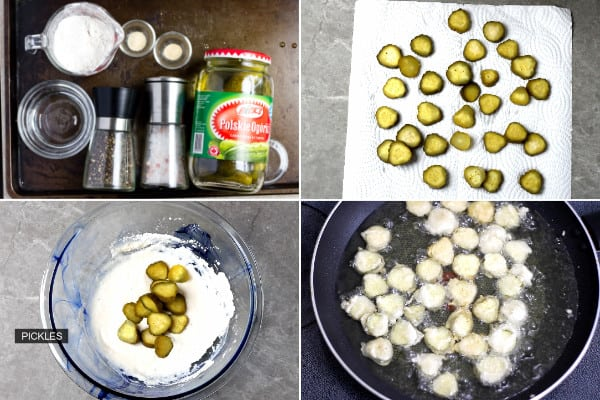 Pickle, salt, flour and seasoning.