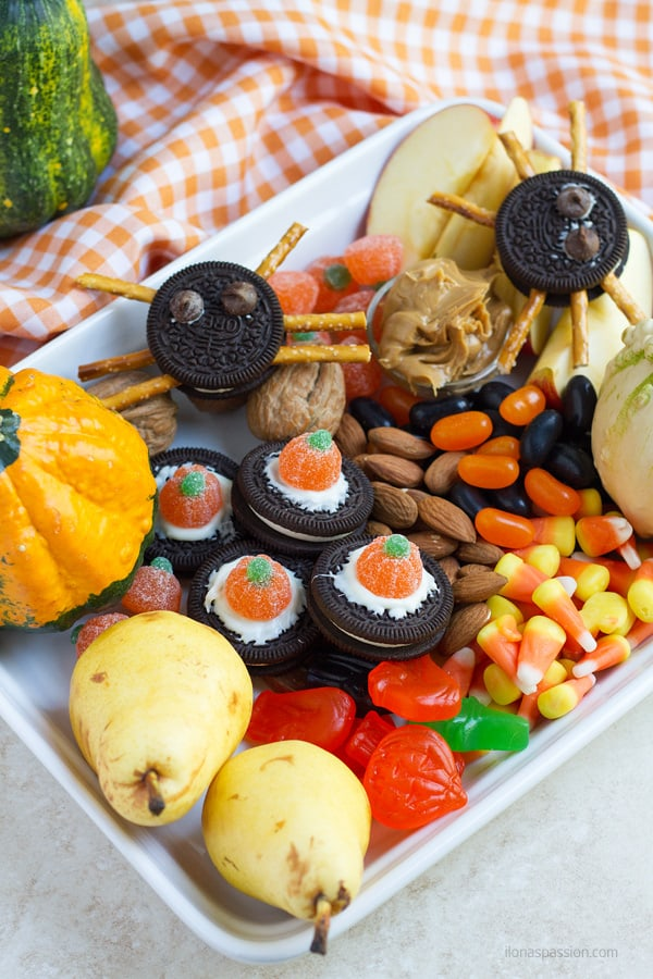 Party snacks for Halloween.