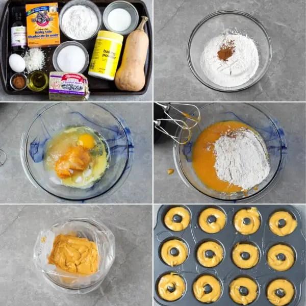 Ingredients to make donuts.