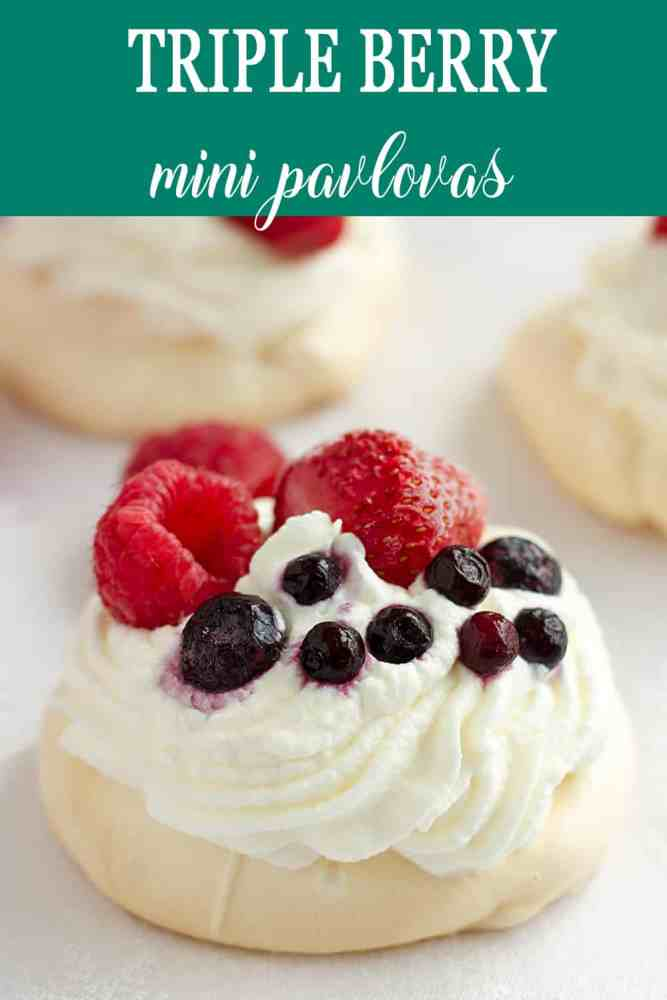 Whipped cream with small pavlova.