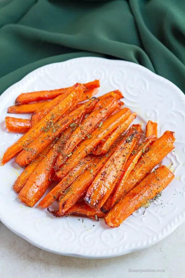 Honey glazed carrots.