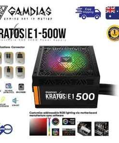 gamdias kratos e1-500 500 watt rgb