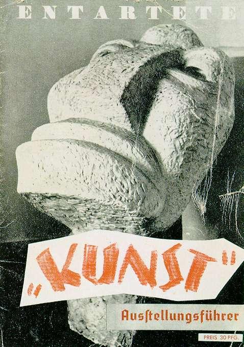Cover of the exhibition program: Degenerate Art exhibition, 1937