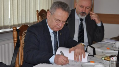 Signatory of Agreement Mikolaj Kulik, Ph.D., Rector of National Aviation in Kiev