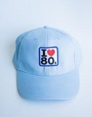 Gorras Azul Cielo 1 - Gorra I LOVE 80s Azul Cielo