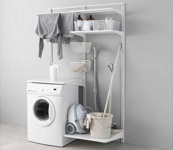 Mobile lavatrice componibile economico fai da te ALGOT IKEA Lavanderia