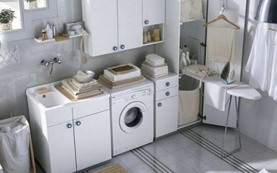 Come arredare bagno lavanderia piccolo mobile lavandino
