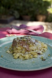 Tagliatelle_with_Parma_Ham_Pistachios; lynda_booth; dublin_cookery_school; from_lyndas_table; starters; pasta; i_love_cooking_recipe