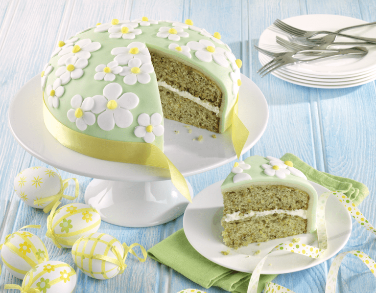 Dr Oetker Easter White Chocolate and Pistachio Cake I Love Cooking Ireland