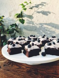 Chocolate Coffee Brownies with blueberry frosting, Clodagh McKenna, L'OR espresso, i love cooking, www.ilovecooking.ie