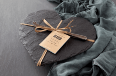 slated heart cheese board, i love cooking ireland, christmas gift guide