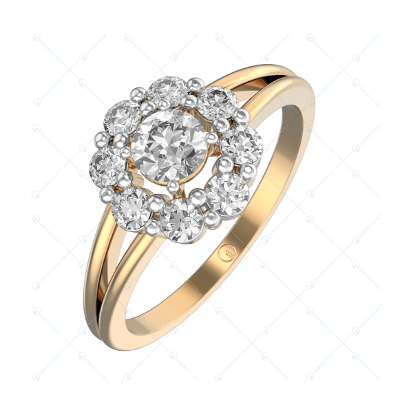0.30 ct Adriana Solitaire Engagement ring in Yellow gold for Women v1
