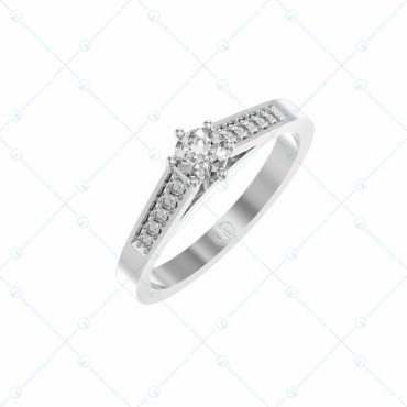 0.20 Ct Eternal Promise Solitaire Engagement Ring In White Gold For Women v1