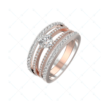 0.30 Ct Charming Credence Solitaire Engagement Ring In Two-Tone For Women v1